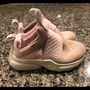 Nike pink slip on shoe